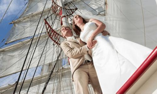 trouwen aan boord van zeilschip