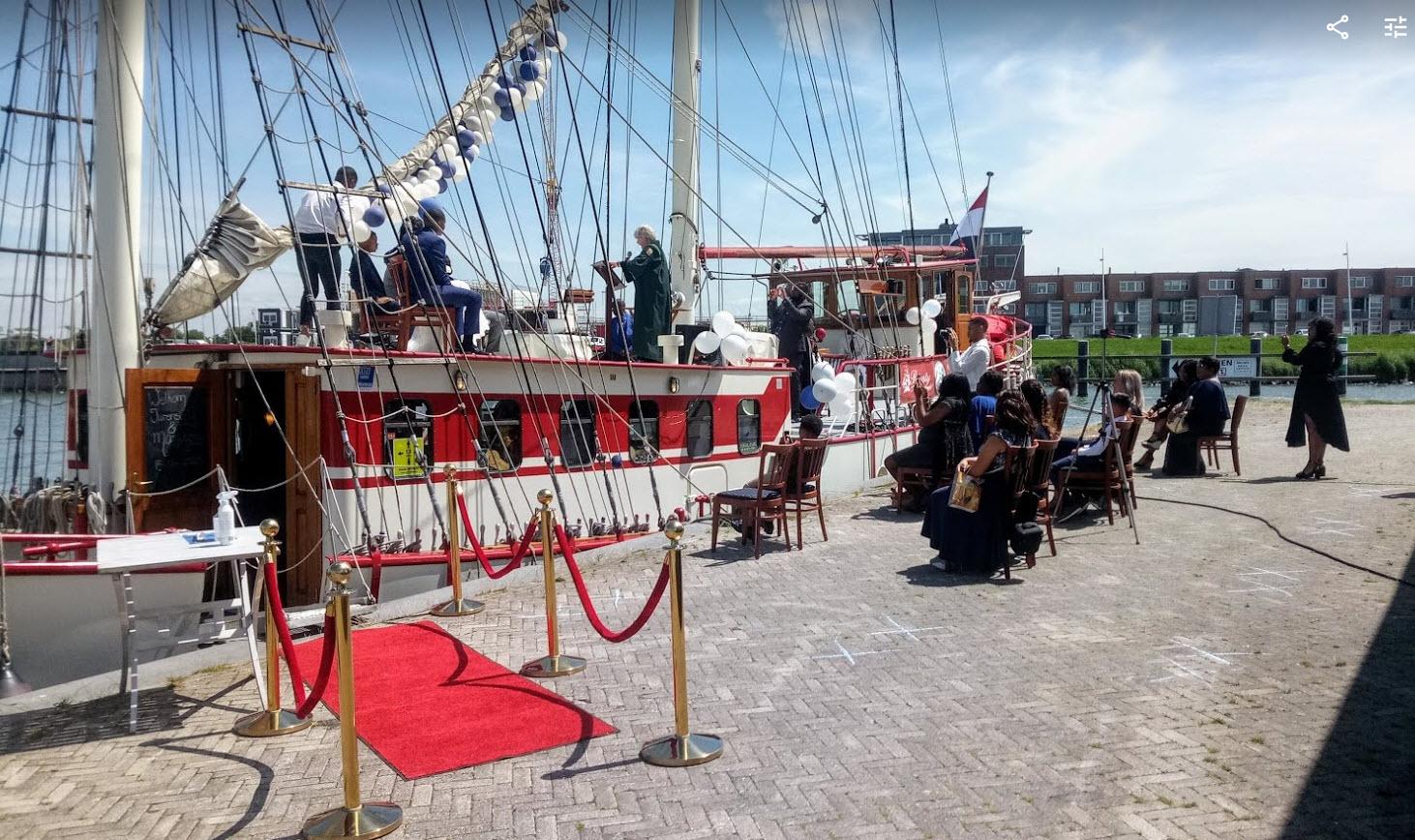Corona proof trouwen op zeilschip bounty
